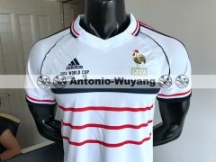 1998 France away white Retro Vintage version soccer jersey antonio-wuyang