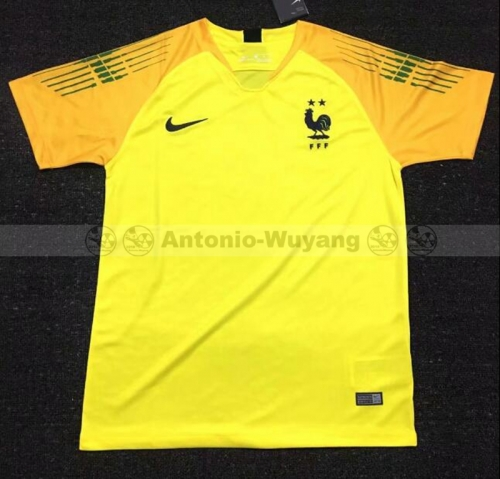 2018 France yellow Goalkeeper soccer jersey world cup champions