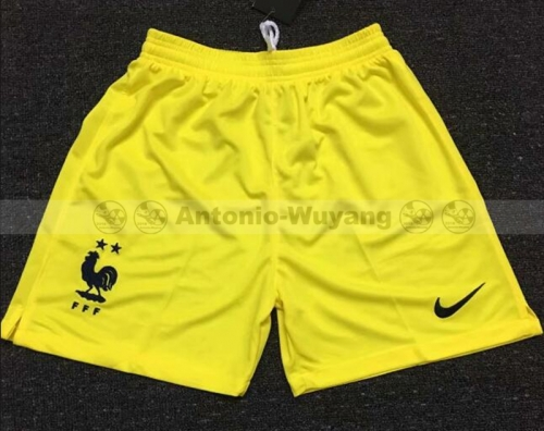 2018 France yellow Goalkeeper soccer pants world cup champions