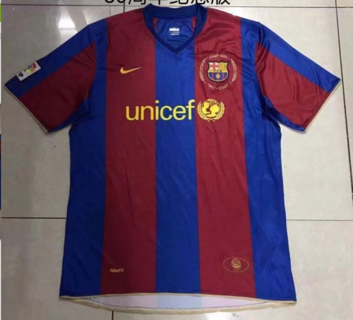 1957-2007 Barcelona home shorts sleeve Commemorative Edition soccer jersey