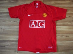 2007-2008 Manchester United home Commemorative Edition soccer jersey