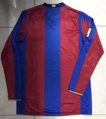 1957-2007 Barcelona home Long sleeve Commemorative Edition soccer jersey