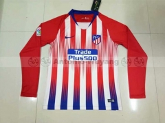 18-19 Atlético de Madrid home long sleeve soccer jersey