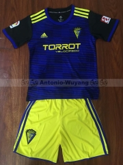 18-19 Cadiz C.F away kids childs youths soccer jersey