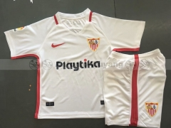 18-19 Sevilla fc home white kids youths childs soccer jersey