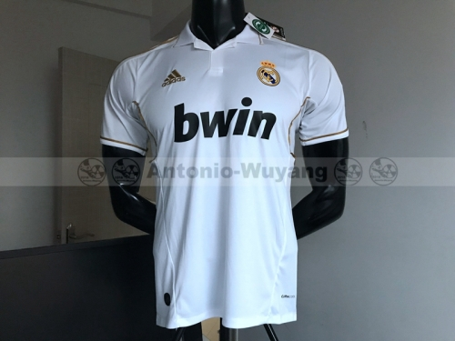 11-12 Real madrid white home soccer jersey