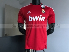 11-12 Real madrid red third soccer jersey