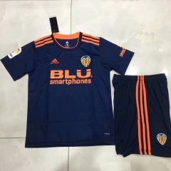 11-12 Valencia away blue kids youths childs soccer jersey