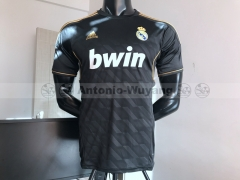 11-12 Real madrid black away soccer jersey