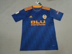 11-12 Valencia away blue adult soccer jersey