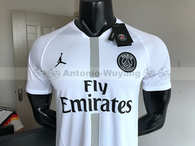18-19 Paris Saint-Germain Jordan white soccer jersey