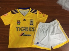 KIDS New TIGRES UANL jersey 2018-2019 home yellow VARGAS GIGNAC futebol camisetas de futbol 18-19 PERSONALIZED