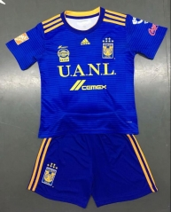 KIDS New TIGRES UANL jersey 2018-2019 away blue VARGAS GIGNAC futebol camisetas de futbol 18-19 PERSONALIZED