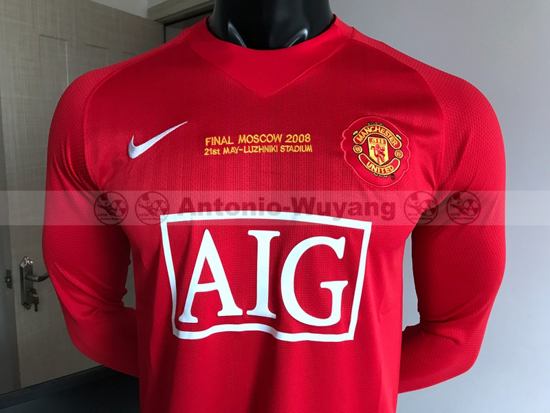 2007-2008 Manchester United home man united Football Shirt Retro version  new soccer jersey