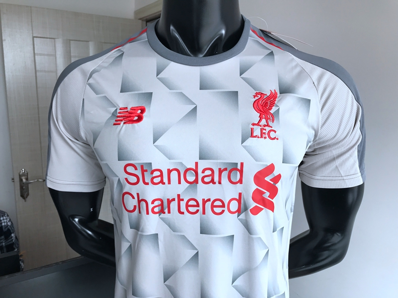 18-19 Liverpool third white soccer jersey