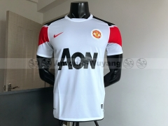 Manchester United away white man united Football Shirt 2010-2011 Retro version  new soccer jersey