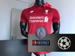 18 19 Liverpool home 2018 2019 UCL Champions league Soccer Jersey