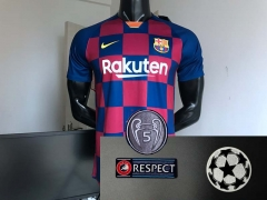 19 20 Barcelona 2019 2020 UCL champions league Home Soccer jersey