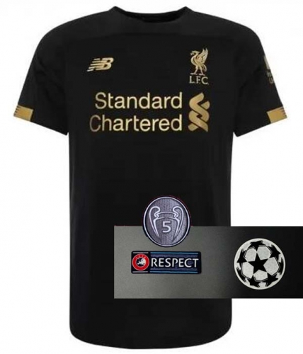 2019 2020 Liverpool Black Goalkeeper UCL champions league red Jersey