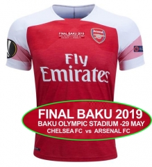 2018 2019 Arsenal Europa League Final jersey FINAL BAKU 2019 BAKU OLYMPIC STADIUM -29 MAY CHELSEA FC  vs  ARSENAL FC