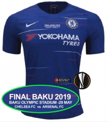 2018 2019 Chelsea Europa League Final jersey FINAL BAKU 2019 BAKU OLYMPIC STADIUM -29 MAY CHELSEA FC  vs  ARSENAL FC
