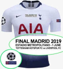2018 2019 TOTTENHAM HOTSPUR Home champions league final jersey home