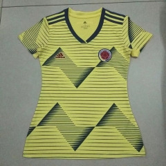 2019 2020 Colombia home world cup yellow Women jerseys