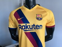2019 2020 Barcelona away yellow soccer jersey