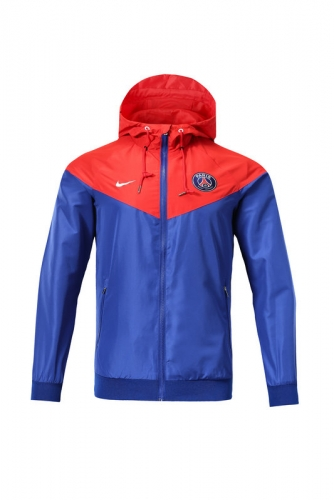 2019 2020 Paris Saint Germain Red Windbreaker training wear
