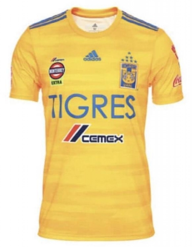 2019 2020 Tigres UANL home yellow 19 20 Shirt Soccer Football shirts jersey