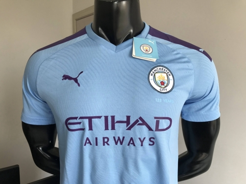 2019 2020 Manchester City Blue Home 19 20 Shirt Soccer Football shirts jersey