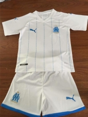 2019 2020 Marseille 19 20 Home white Kids Football Soccer Jersey shirts