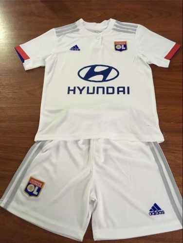 19-20 LYONNAIS home  kids Shirt 2019 2020  Lyon Soccer Jerseys Football Shirt