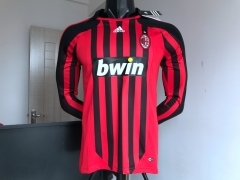2007 2008 Ac Milan Long Sleeve home retro Soccer Jersey Football shirts
