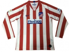 2019 2020 Atletico Madrid home Long Sleeve 19 20 Football soccer jersey