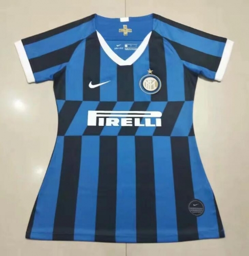 19 20 Inter Milan home female Women Soccer Jersey 2019-2020 Football shirts
