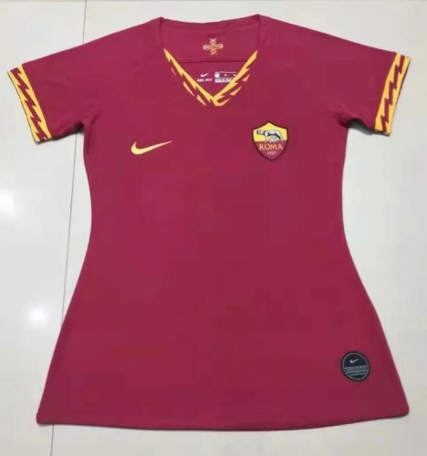 19 20 ROMA ROME female Women Home Soccer Jersey 2019-2020 Football shirts