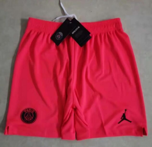 2019 2020 PSG Jordan away Orange Soccer shorts pants