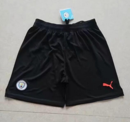2019 2020 Manchester City Black 19 20 Soccer shorts pants
