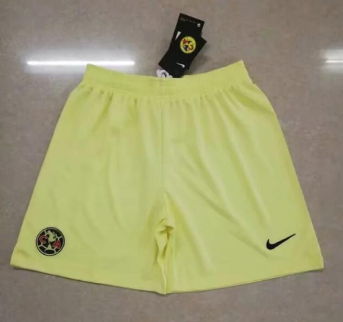 2019 2020 America yellow 19 20 Soccer shorts pants