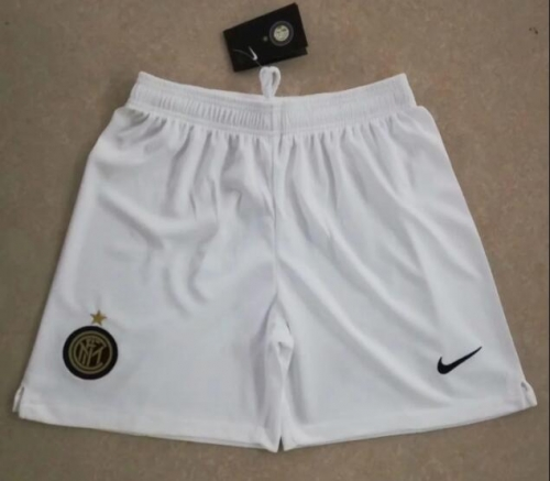2019 2020 Inter Milan away white 19 20 Soccer shorts pants