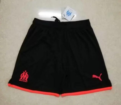 2019 2020 Olympique de Marseille Black 19 20 Soccer shorts pants