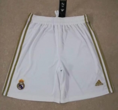 2019 2020 Real Madrid white 19 20 home Soccer shorts pants