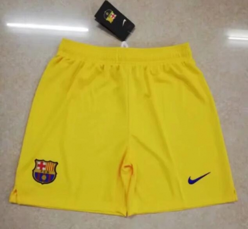 2019 2020 Barcelona yellow away 19 20 Soccer shorts pants