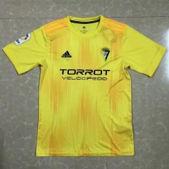 2019 2020 Cadiz C.F home yellow 19 20 Soccer Jersey Football shirts