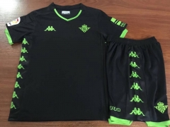 2019-2020 Real Betis black Away KIDS childs Soccer Jersey