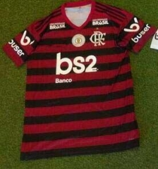 19 20 Flamengo home with sponsor and patch Soccer Jersey 2019-2020 Football shirts