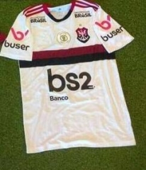 2019-2020 Florence Flamengo away white with spoanor and patch soccer jersey 19 20