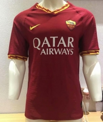 2019 2020 Roma home Rome Player version Soccer Jersey 19 20 Football shirts