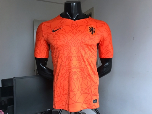 2020 Netherlands home soccer  jersey PROMES #9